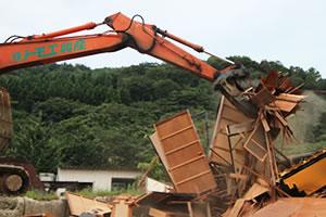 木造住宅の解体工事